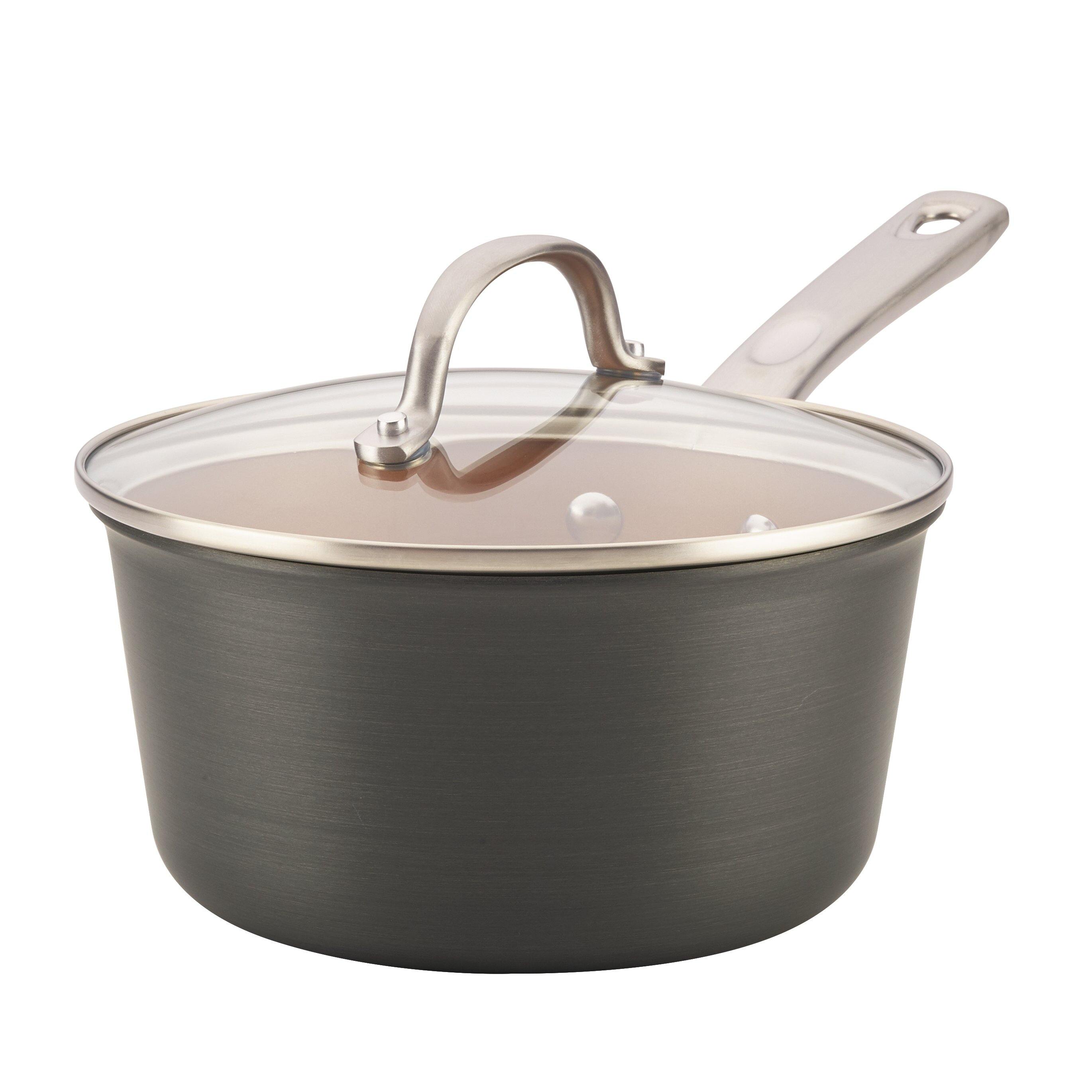 Ayesha Curry 3 qt  Hard Anodized Aluminum Sauce Pan with Lid