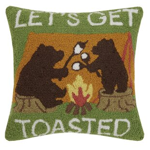 Throggs Let's Get Toasted Bears Throw Pillow