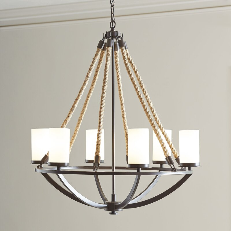 Worthington 6 light candle style chandelier