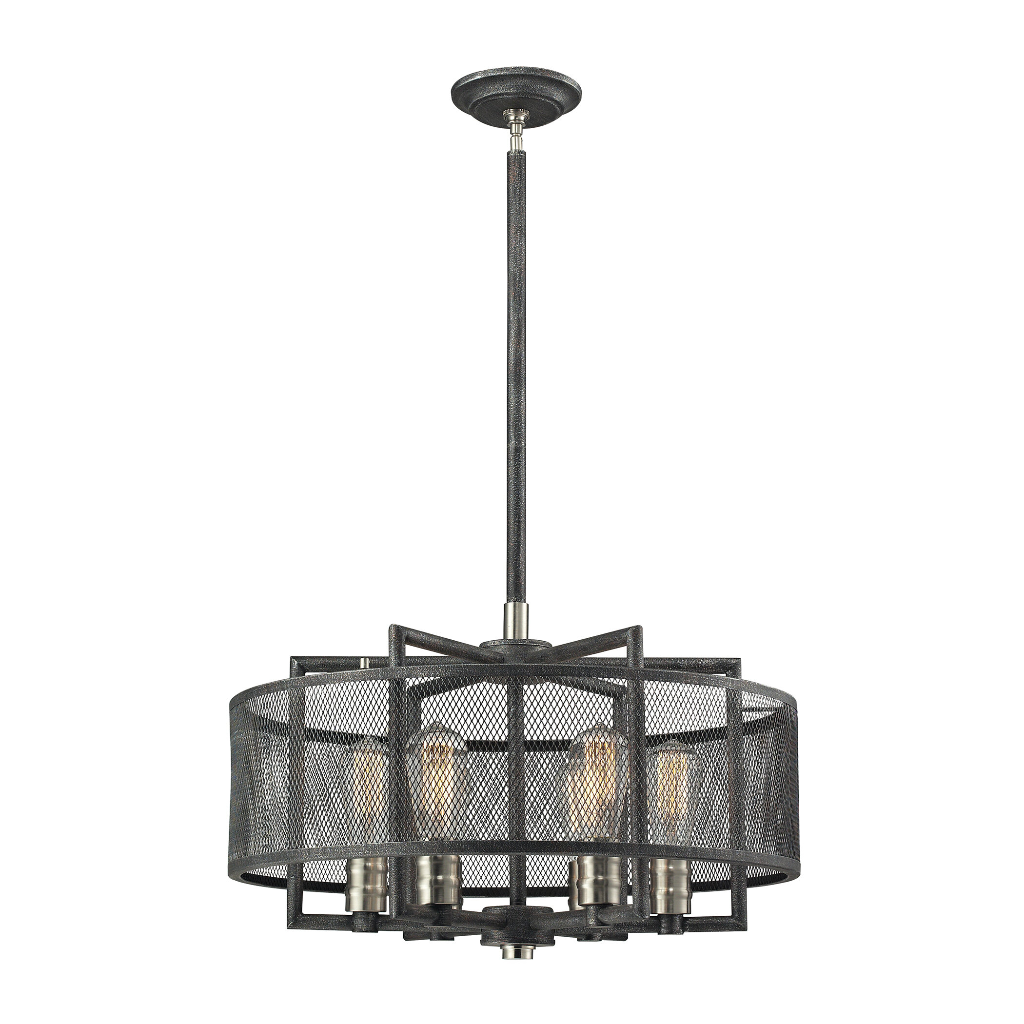 Elk Lighting Slatington 6 Light Drum Chandelier & Reviews