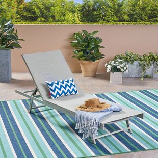 Orren Ellis Dillion Outdoor Reclining Chaise Lounge