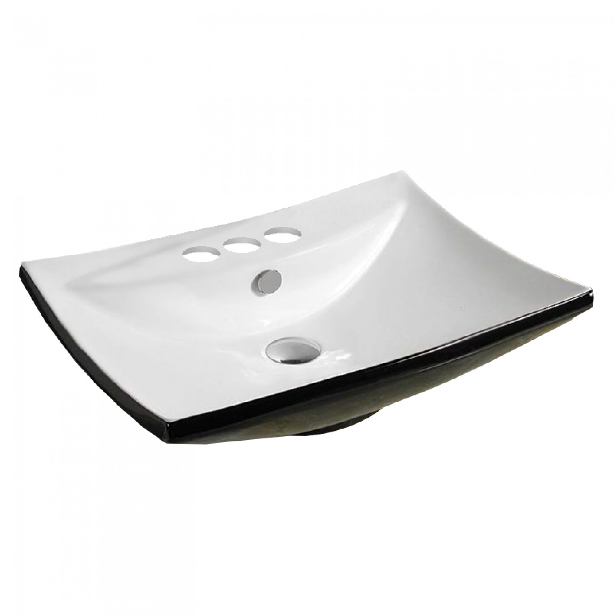 American Imaginations Center Drilling Ceramic Rectangular Wall Mount Bathroom Sink With Overflow Wayfair