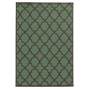 Alford Green/Brown Indoor/Outdoor Area Rug
