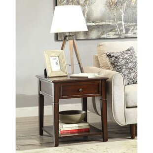 Torin Wooden End Table by Alcott Hill
