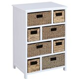 Nickolas 8 - Drawer Nightstand in White by Rosecliff Heights