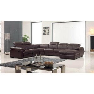 Leather Reclining Sectiona..