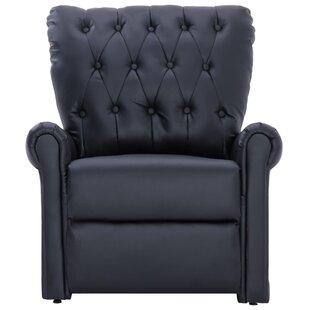 Bhoyar Faux Leather Wingback Chair by Red Barrel Studio