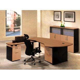 OfisELITE Executive Management 5 Piece L-Shaped Desk Office Suite