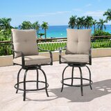 Palmgrass Swivel 26'' Counter Stool (Set of 2) by Red Barrel Studio®