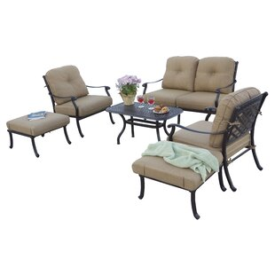 Thompson 6 Piece Sofa Set with Cushions by Alcott Hill