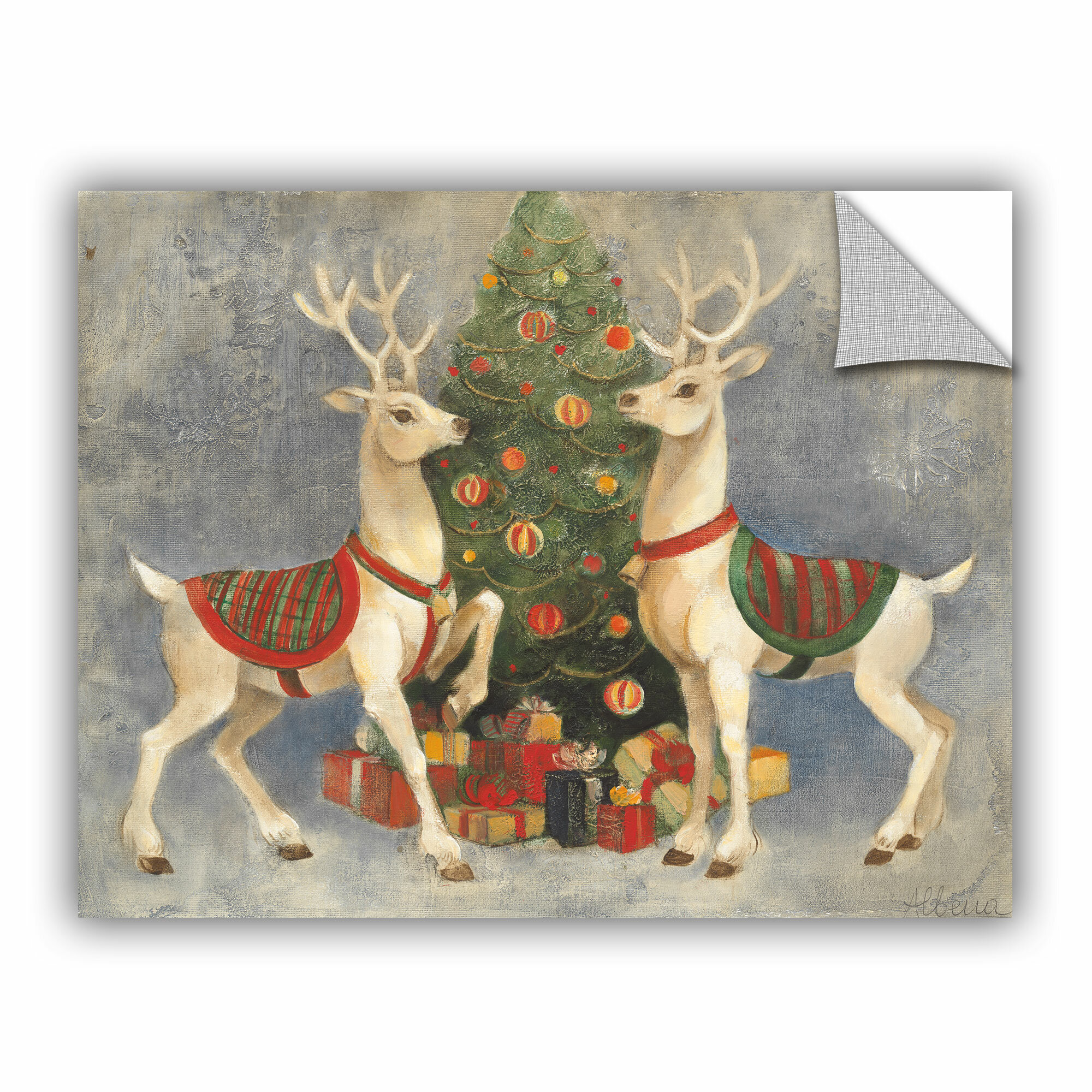 Artwall Albena Hristova Holiday Reindee Removable Wall Decal Reviews Wayfair