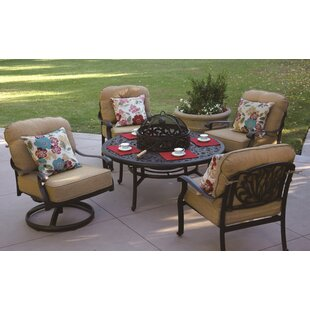 Lebanon 5 Piece Conversation Set with Cushions