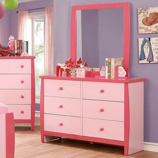 Lianne 6 Drawer Double Dresser with Mirror
