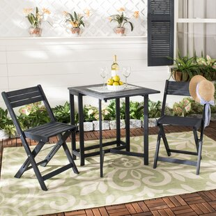 Geremia 3 Piece Bistro Set