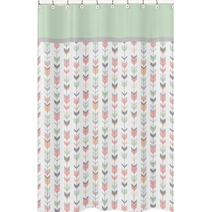 Mod Arrow Microfiber Single Shower Curtain