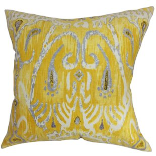 Delron Ikat Cotton Throw Pillow Cover