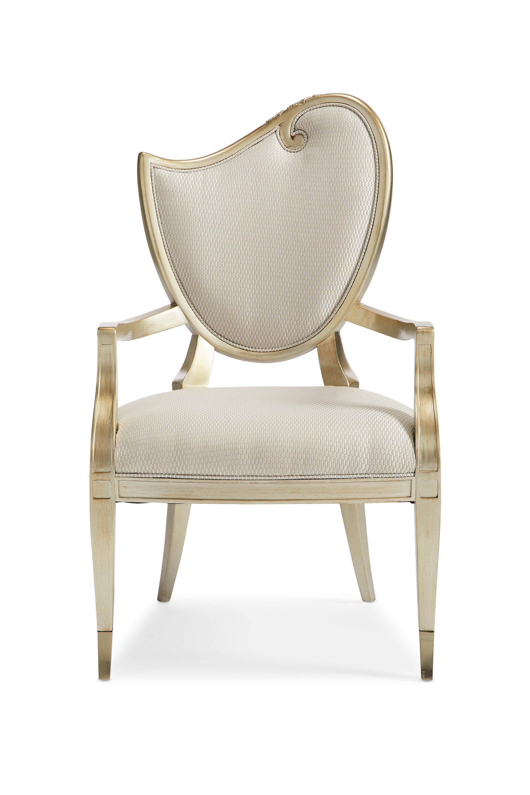 Caracole Compositions Upholstered King Louis Back Side Chair In Beige Wayfair
