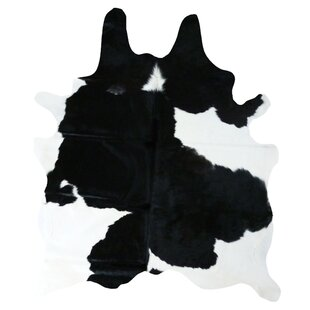 Bargain Cedarton Natural Cowhide Black/White Area Rug ByWade Logan