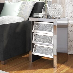 Hartshorne Crystal 3 Drawer Nightstand by Rosdorf Park