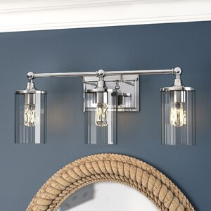 Hague 3-Light Vanity Light with Clear Beveled Glass