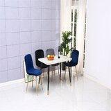 Nempnett Thrubwell Velvet Side Chair in Blue/Brown (Set of 4) by Corrigan Studio®