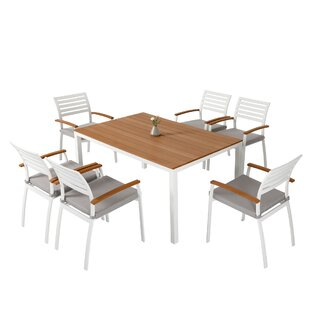 Rumfelt 7 Piece Dining Set with Cushions (Set of 7)