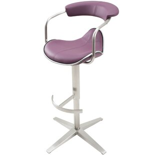Weinert Adjustable Height Swivel Bar Stool Latitude Run