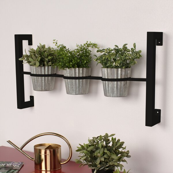 Kate And Laurel 3 Piece Groves Metal Wall Planter Set & Reviews by Kate And Laurel