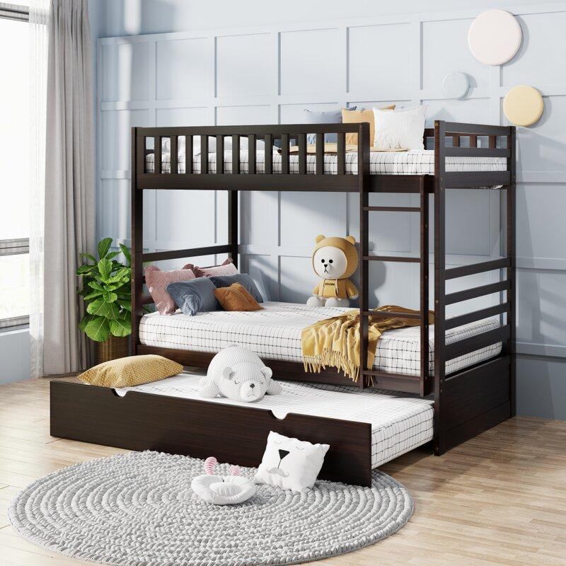 Harriet Bee Josee Twin Over Twin Bunk Bed With Trundle Wayfair