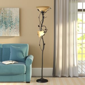 Crystal 72″ LED Torchiere Floor Lamp