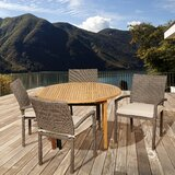 Fielding International Home Outdoor 5 Piece Teak Dining Set