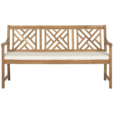 Stanwich Acacia Garden Bench Color: Teak Brown/Beige by Alcott Hill