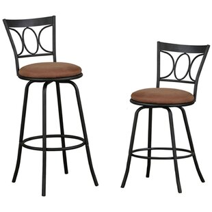 Brogan 40 Swivel Bar Stool (Set of 2) Winston Porter