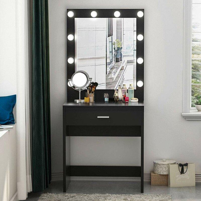 Red Barrel Studio Sashay Makeup Vanity With Mirror Wayfair