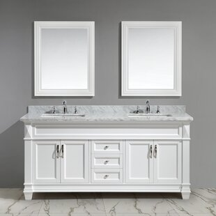 Wilkins 72 Double Bathroom Vanity Set with Mirror by Alcott Hill