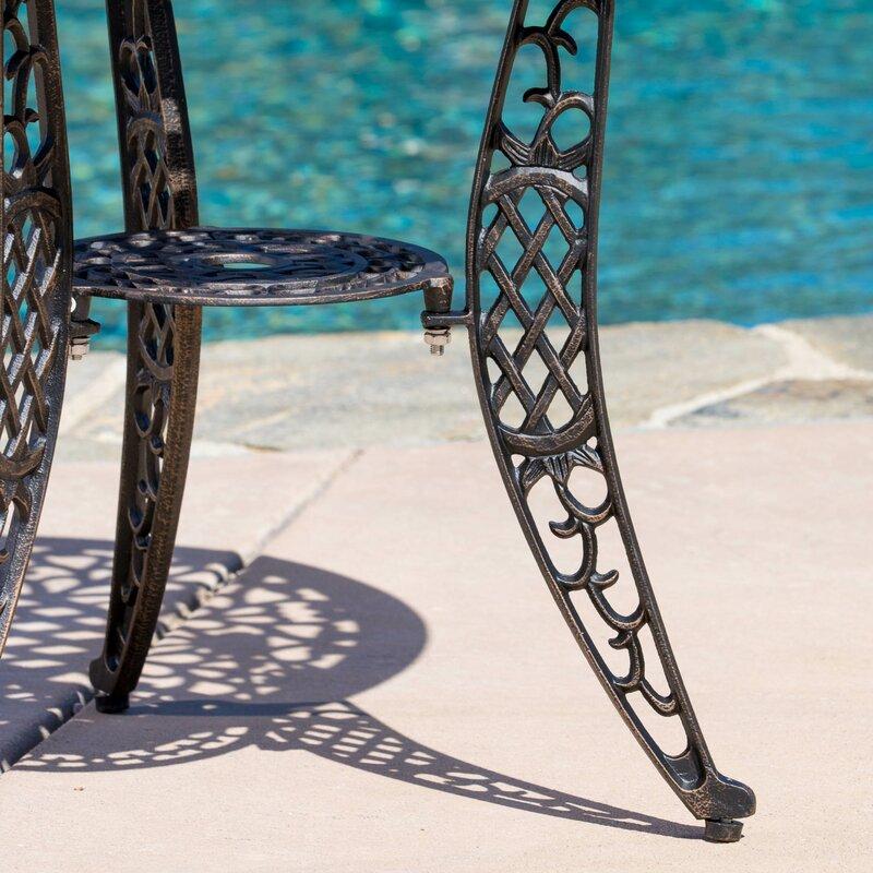Domingo 3 Piece Bronze Cast Aluminum Outdoor Bistro Set