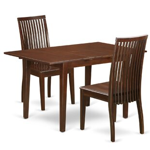 Jovany 3 Piece Solid Wood Dining Set by Charlton Home