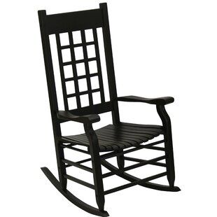 Hutchcraft Slat Rocking Chair by Alcott Hill