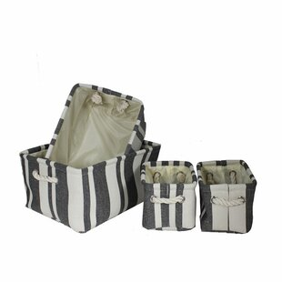 Fabric Utility Fabric 4 Piece Bin Set by Longshore Tides