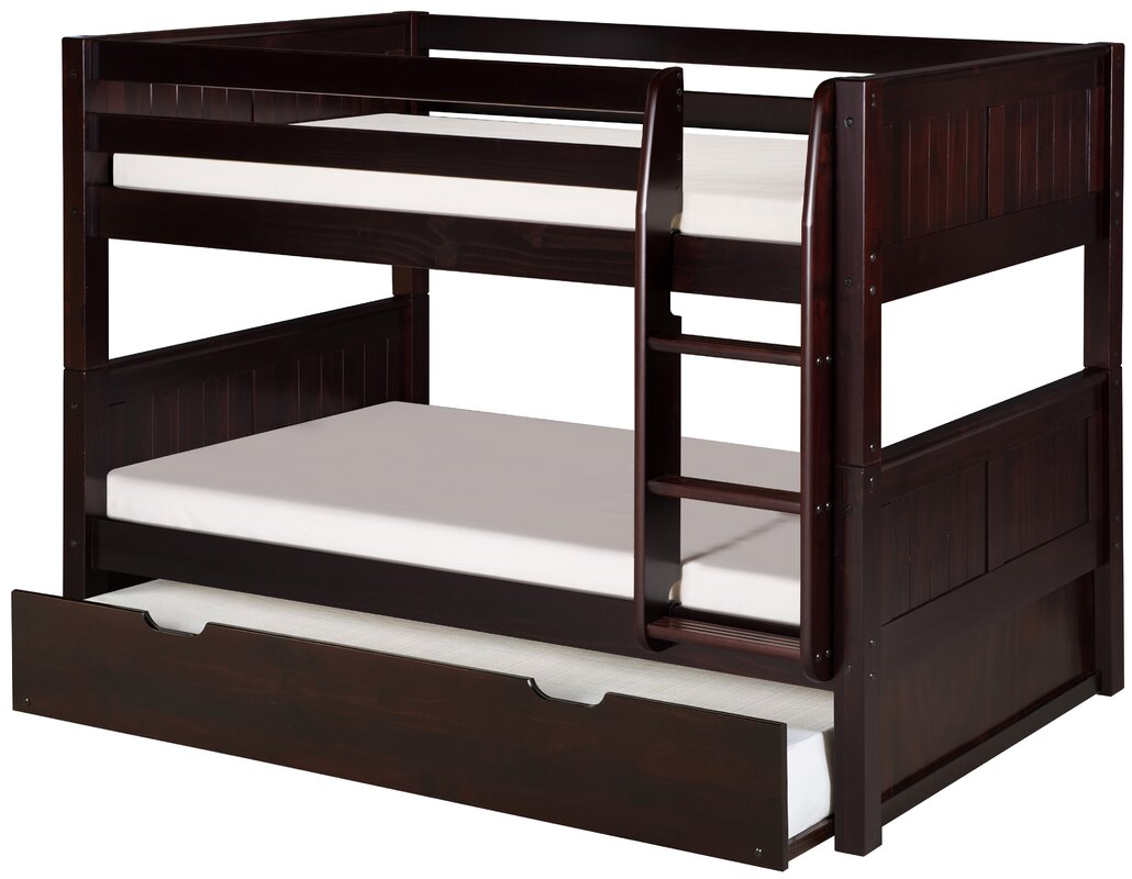viv + rae isabelle low twin bunk bed with trundle & reviews | wayfair