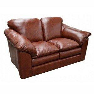 Omnia Leather Oregon Leather Loveseat