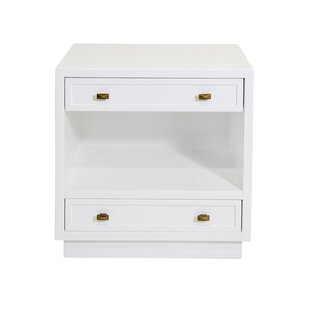 Reviews 2 Drawer Nightstand by Worlds Away