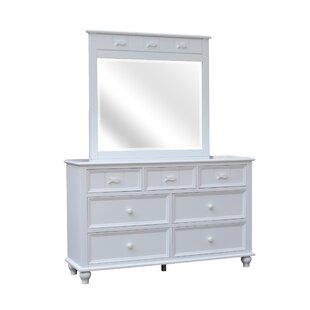 Breakwater Bay Eli 7 Drawer Double Dresser With Mirror