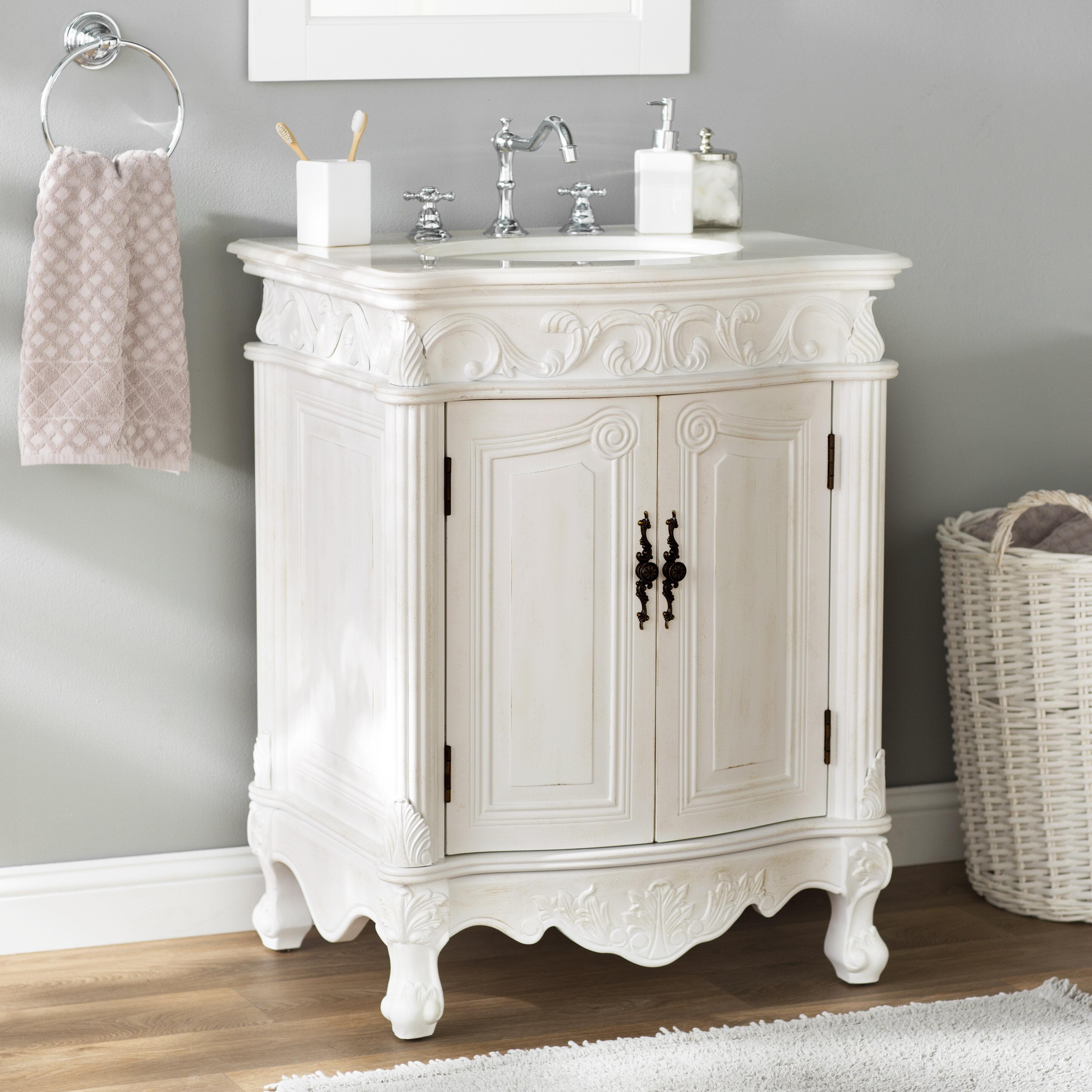 One Allium Way Stoughton 27 Single Bathroom Vanity Reviews Wayfair
