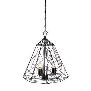 Jamila 3-Light Geometric Chandelier by Wrought Studio
