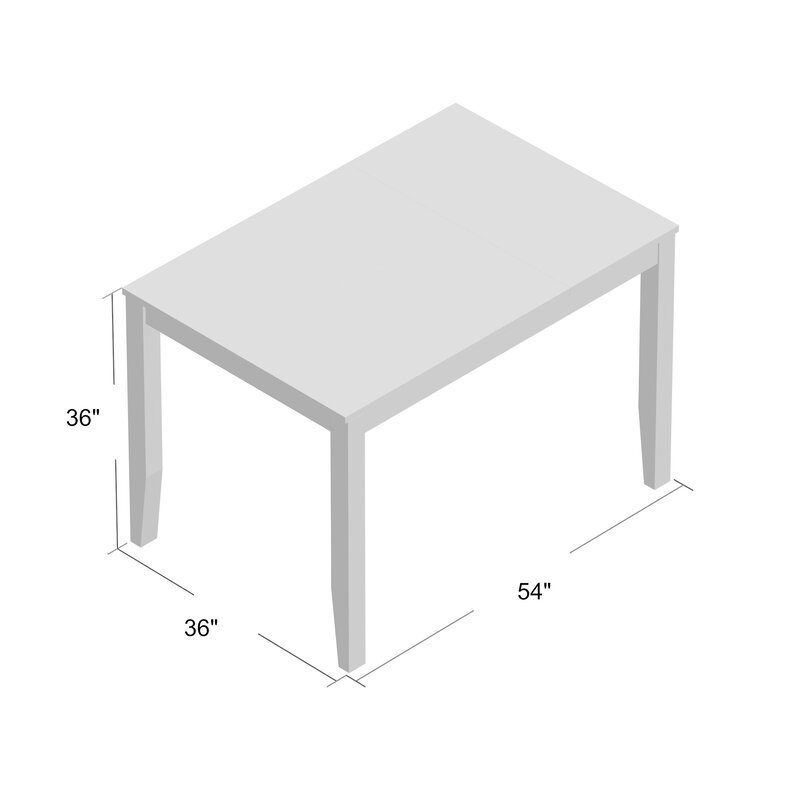 Loon Peak Osborne Square Gather Height Extendable Dining Table