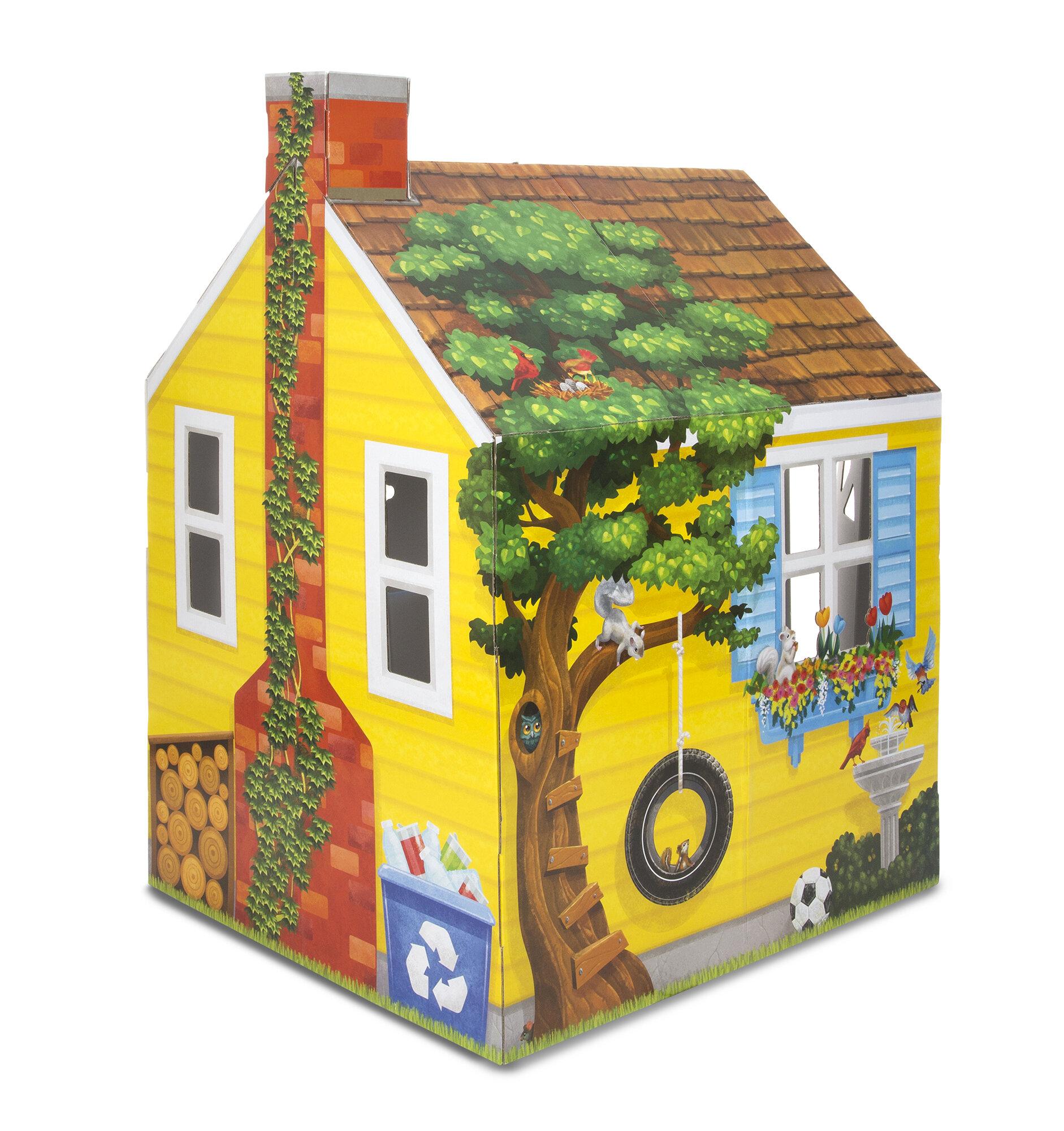 Melissa & Doug Cardboard Structure Cottage 0.13\' Playhouse | Wayfair