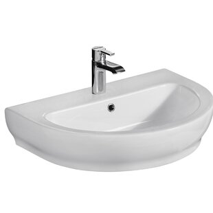 Compare & Buy Harmony 800 Vitreous China 32 Wall Mount Bathroom Sink with Overflow By Barclay