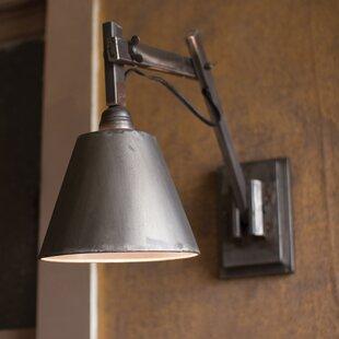 Williston Forge Emmy Studio 1-Light Plug-In Armed Sconce