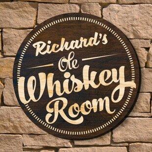 Lighted home bar signs wayfair whiskey room home bar sign wall dcor aloadofball Image collections